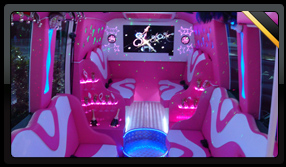 Pink Party Bus Interior